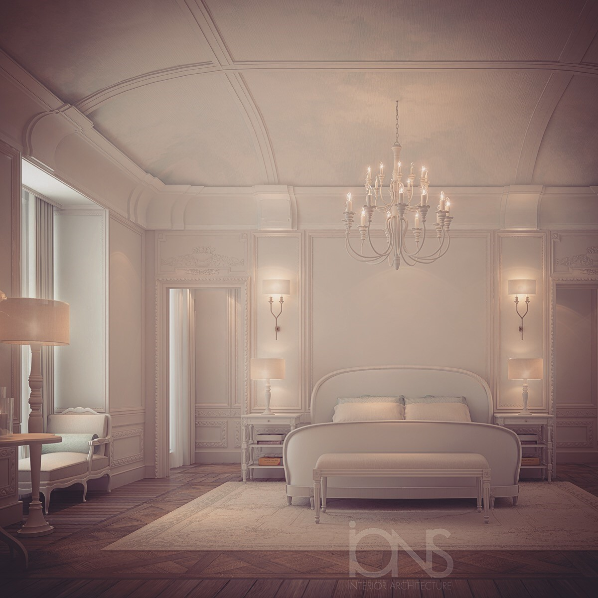 Parisian Style Bedroom Interior