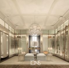 dressing room interior design- Dubai Villa