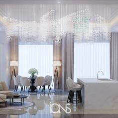 Modern kitchen interior design.Dubai Villa