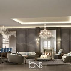 Open kitchen interior design in Doha