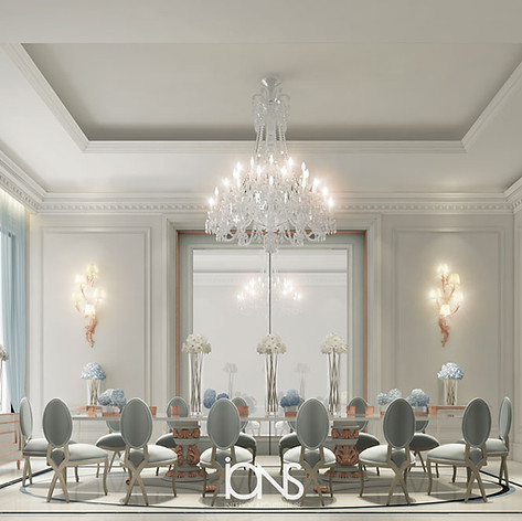 Dining Room interior design. Dubai villa