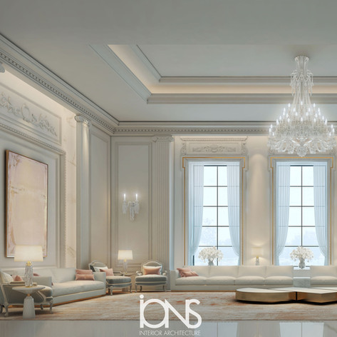 Living Room Classic French Interior