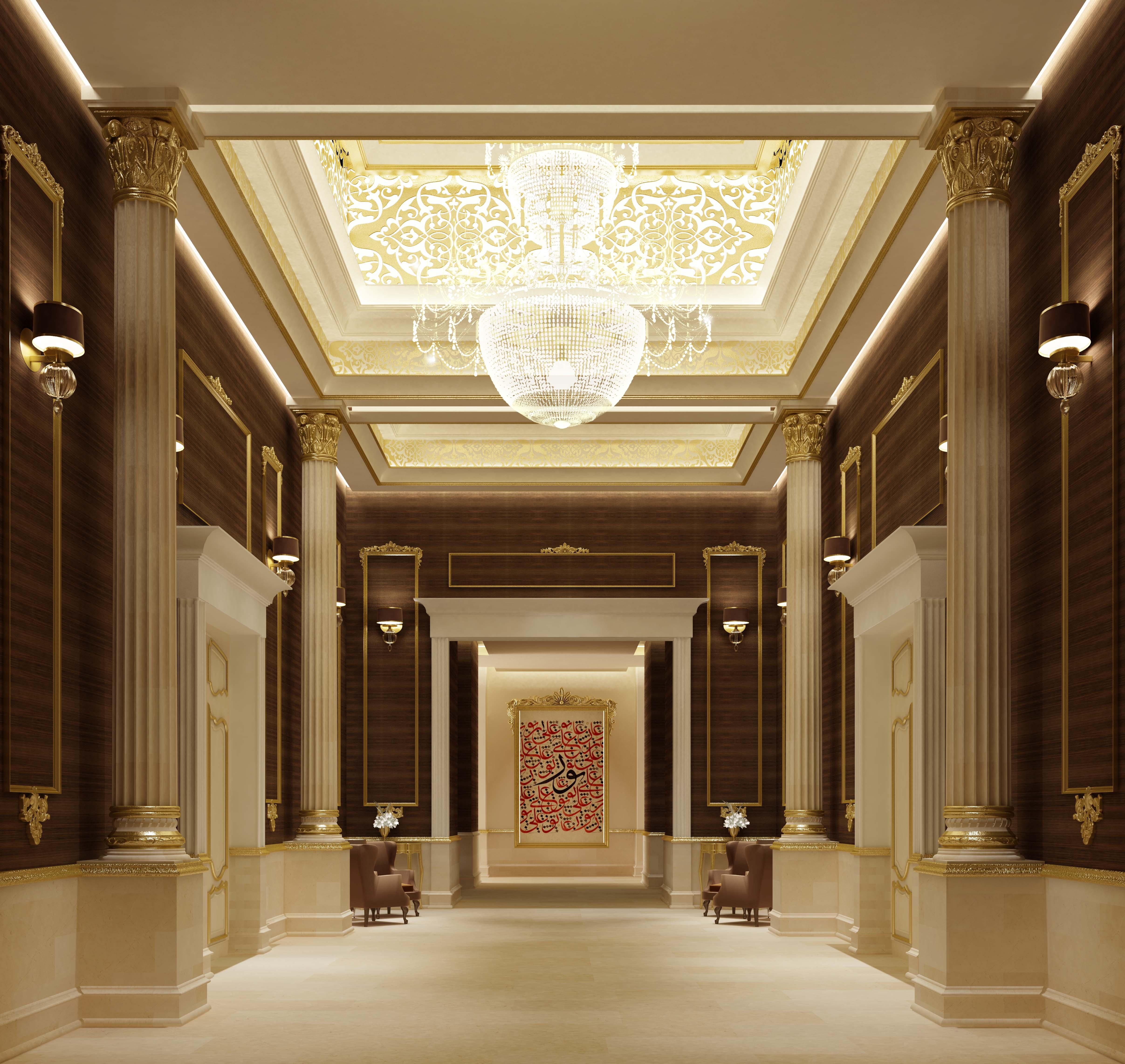 Grand Hall of Villa Design Project