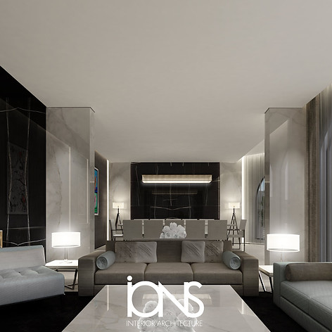 Modern Living room interior design Dubai , UAE