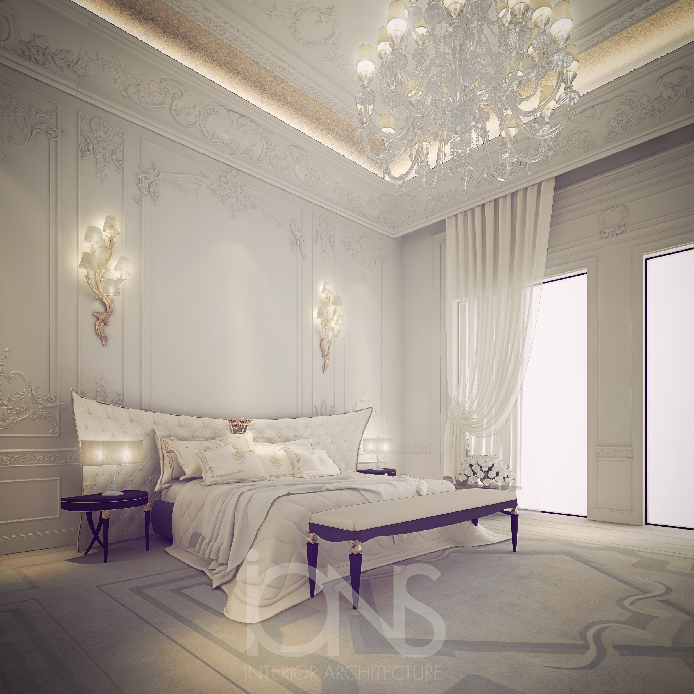 Fresh White Bedroom Interior