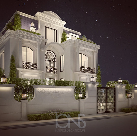 Ions luxury interior design dubai interior design for Villas exterior design pictures