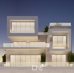 Modern Dubai villa exterior design