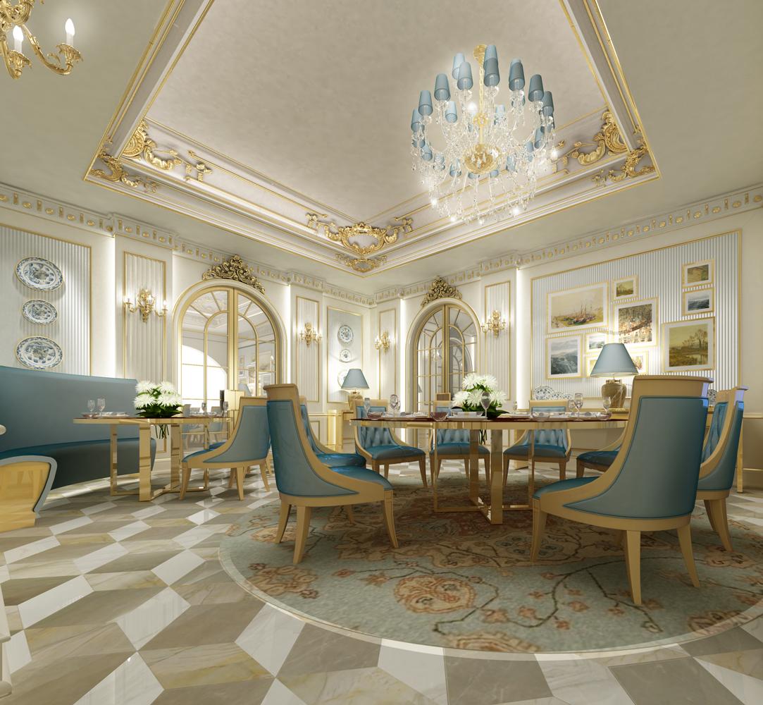 Classic Dining Room Design Dubai