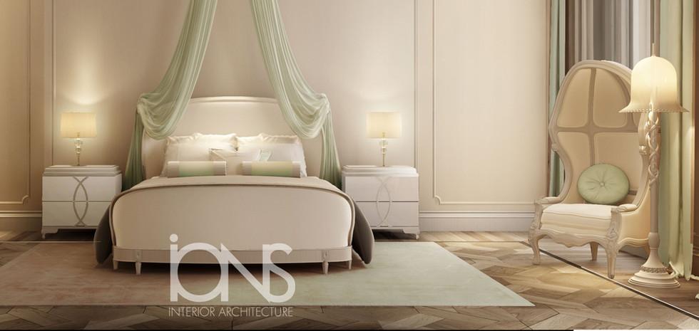 bedroom Designing for a villa in Qatar
