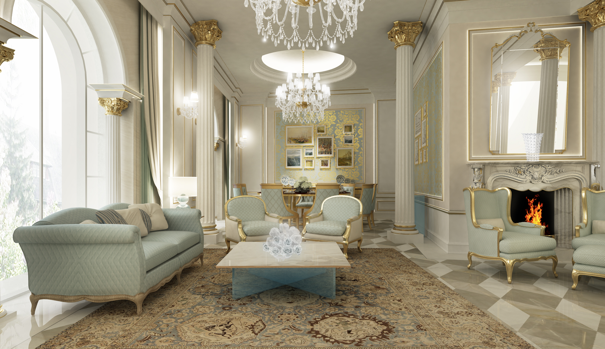 Interior Designing of  Living room