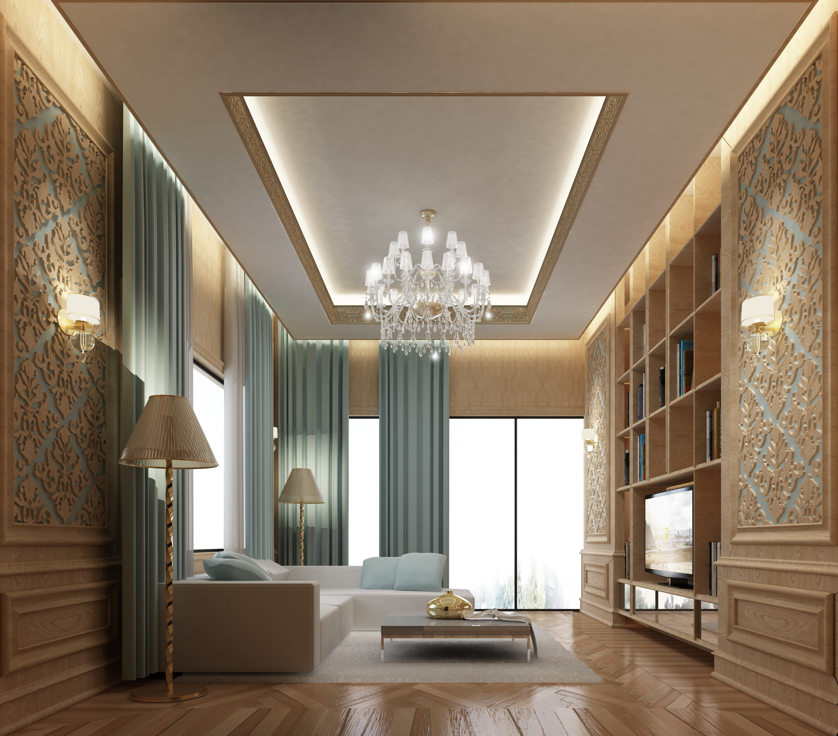 Wooden Themed Home Interiors