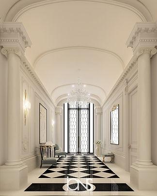 Qatar-Luxury-Villa-Entrance-lobby-design