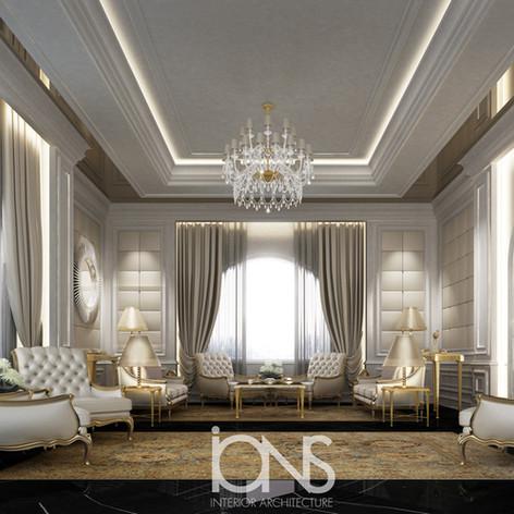 Majlis interior design for a villa in Doha,Qatar
