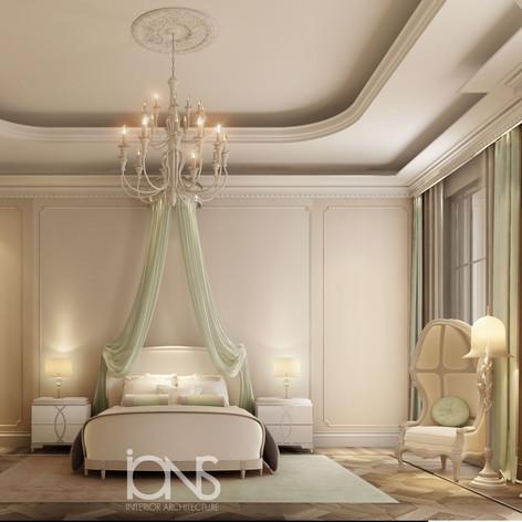 Bedroom interior design - Qatar Palace