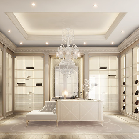 Dressing Room Design with glass door