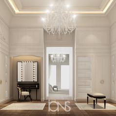 dressing room design Dubai villa