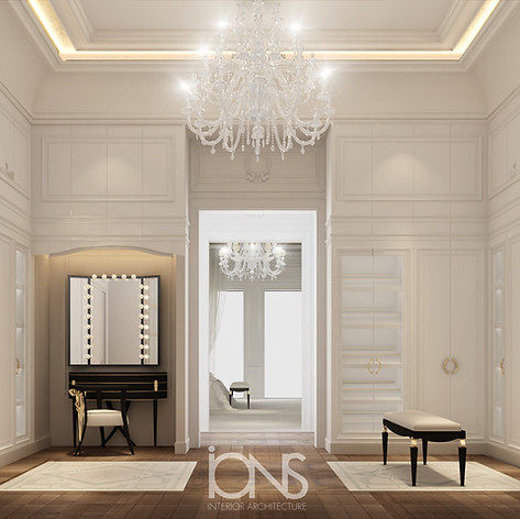 dressing room design Dubai villa