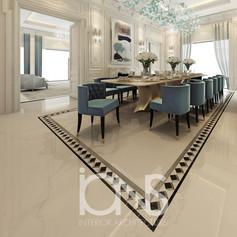 Dining room interior design in dubai