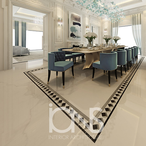 Dining room interior design in dubai