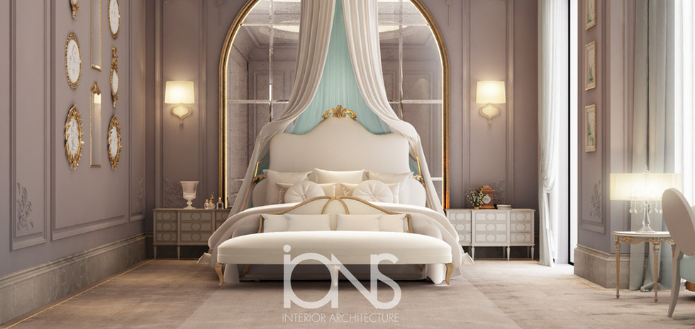 bedroom Designing for a villa in Doha