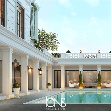 Swimming Pool design for a villa in Dubai UAE