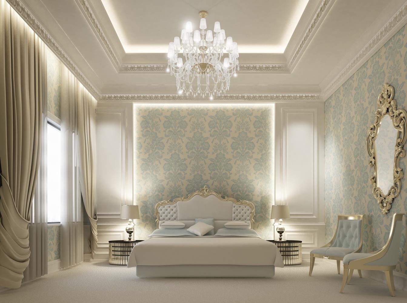 Blue Bedroom Interior  Designing