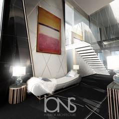 Modern Entrance lobby interior design , Dubai villa