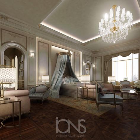 Master bedroom interior design.Doha,Qatar villa