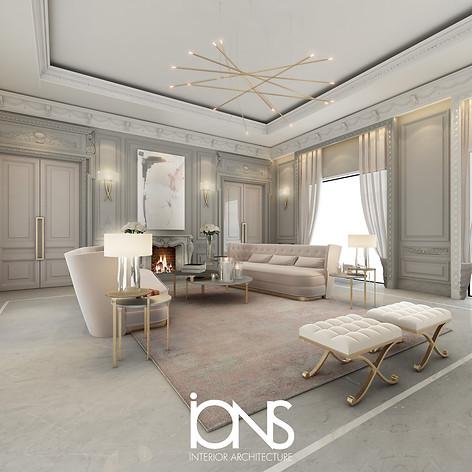 Sitting room interior design, Saudi Arabia palace