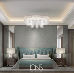 Modern bedroom design.Dubai Villa interior design