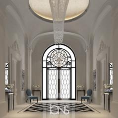 Entrance lobby , Dubai villa interior design