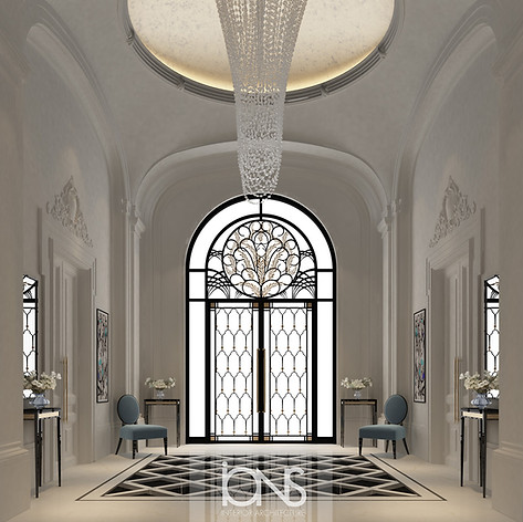 Entrance lobby , Dubai villa interior design