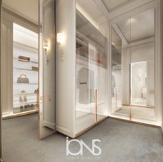 Master Bedroom Dressing Area Design