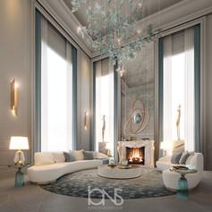 Luxury Lounge sitting area design. Virginia,USA