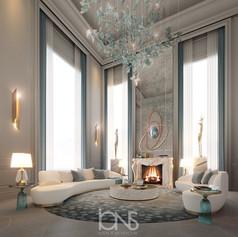 Virginia USA Mansion sitting lounge interior Design