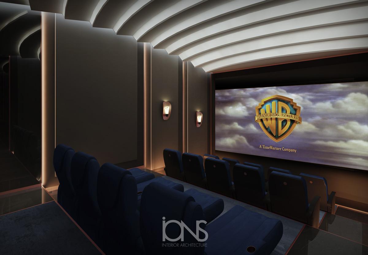 home cinema theater interior design dubai villa