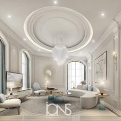 Villa-New-Cairo-Egypt-Family-living-room