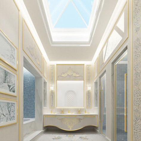 Luxury Bathroom interior design for a villa in Doha,Qatar