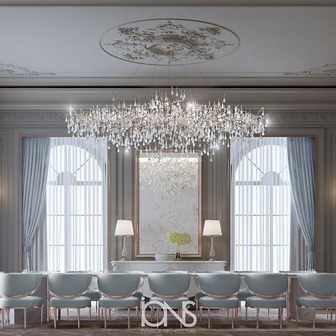 Dining Room interior design Abu dhabi villa