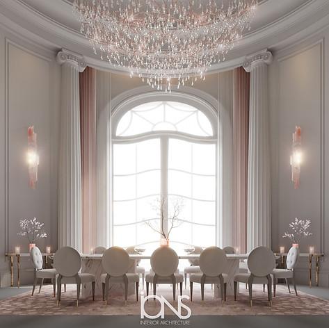 Virginia USA mansion family dining room interior design