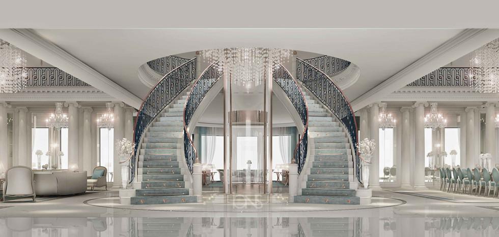 staircase interior design Dubai Palace