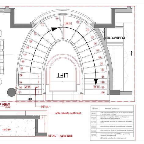 staircase plan details