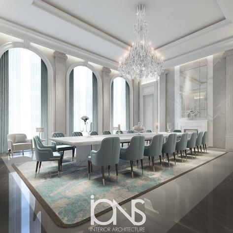 Dining Room Interior Design Doha, Qatar