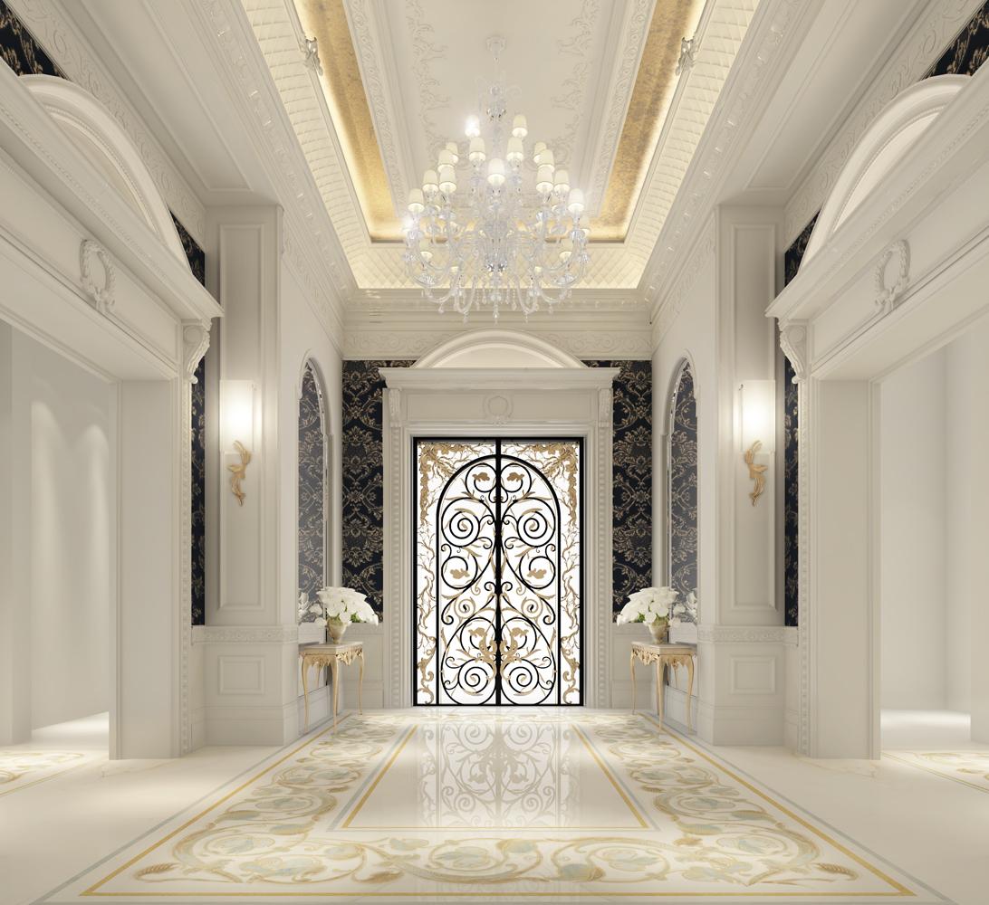 Foyer of a Grand Villa Design