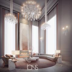 Luxury sitting area interior design