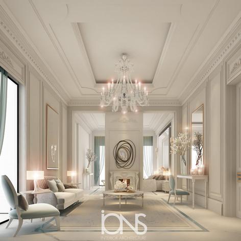 Neoclassical Sitting Room Design