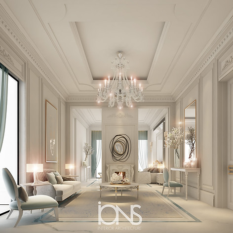 Neoclassical Sitting Room Design