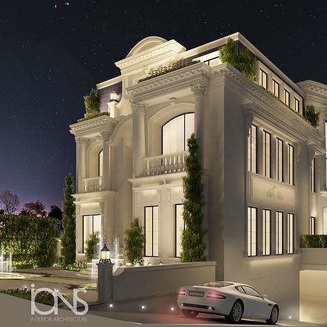 Villa architecture design in Doha Qatar