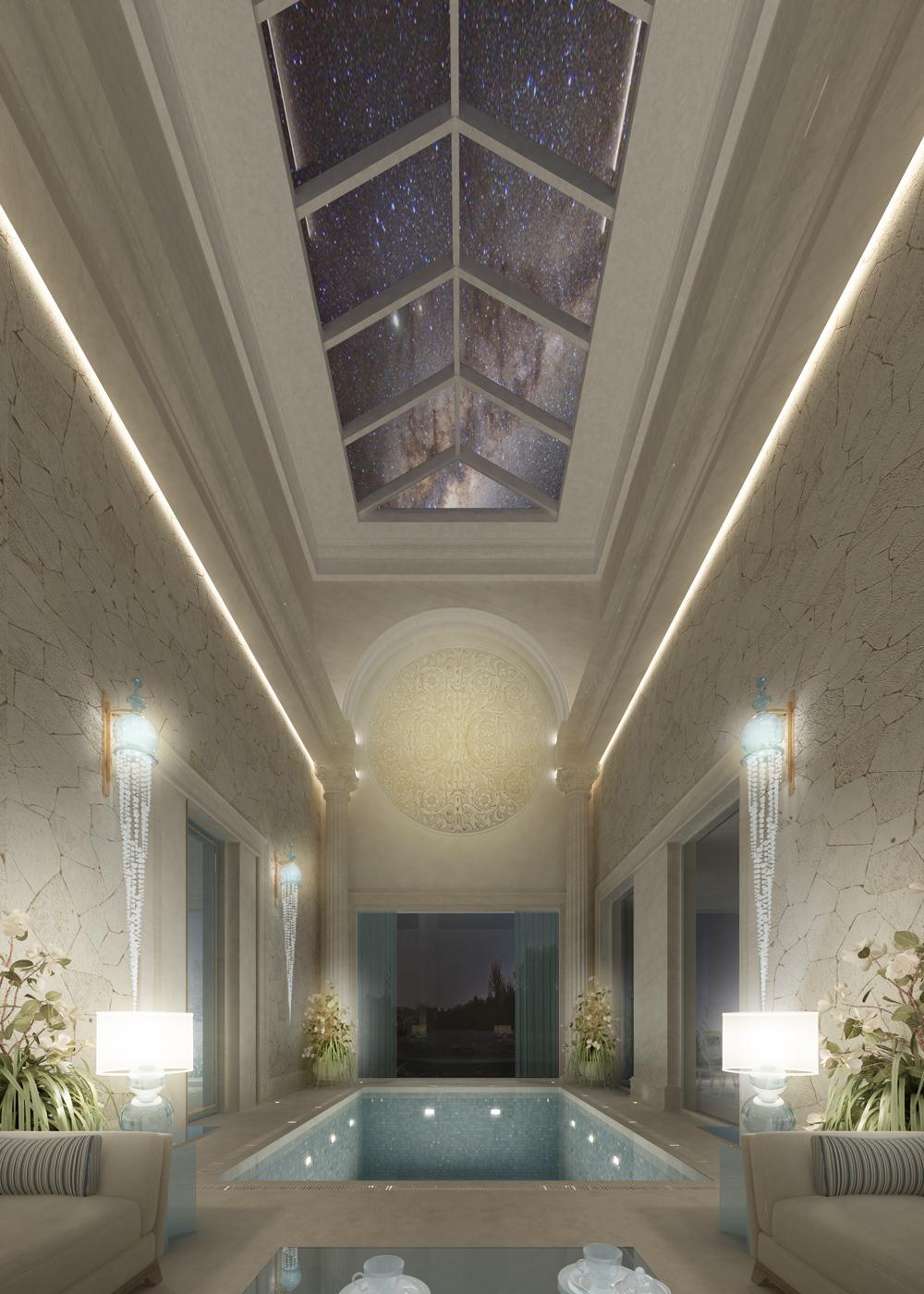 Indoor Pool Interior Decoration