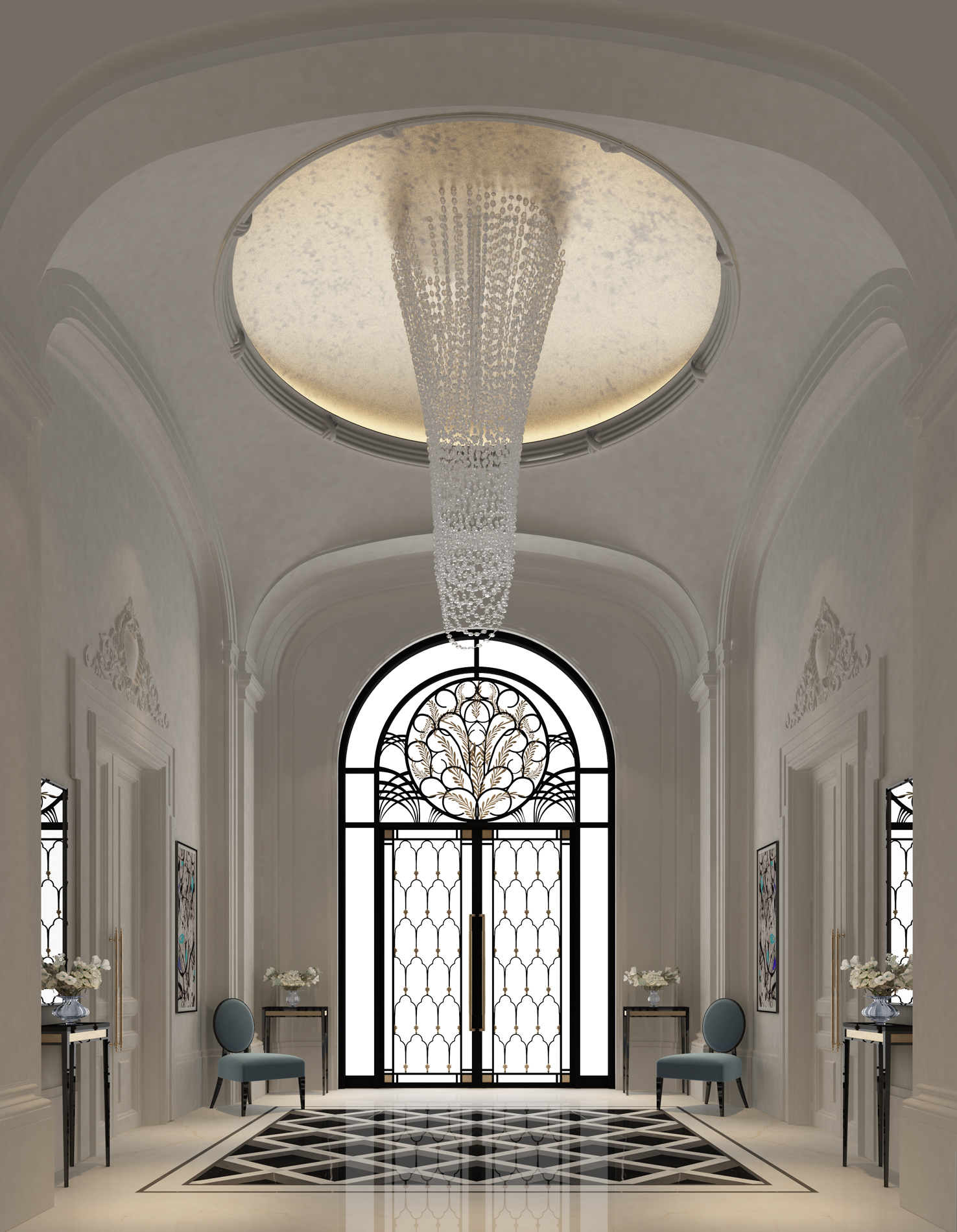 Ions luxury interior design dubai interior design for Villa lobby interior design